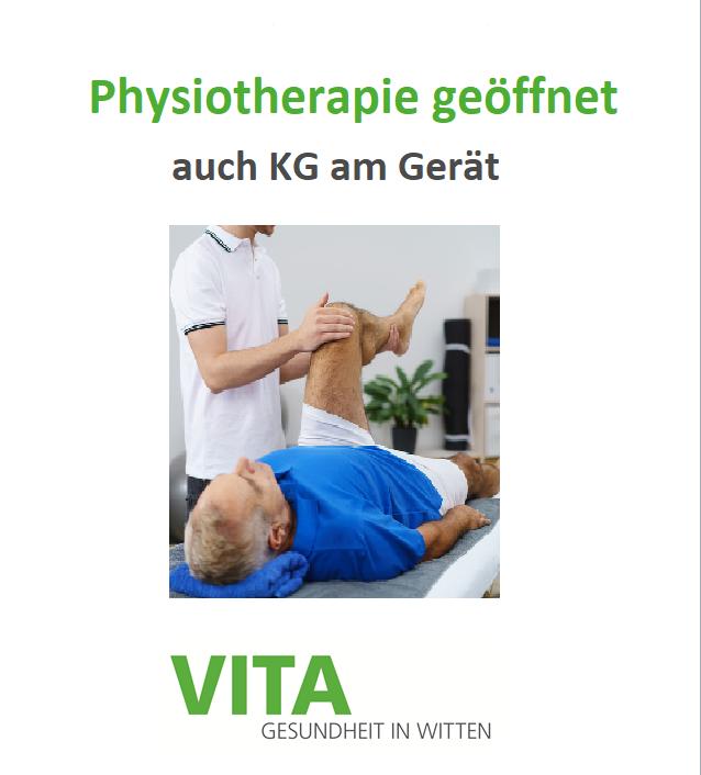 Physiotherapie geöffnet